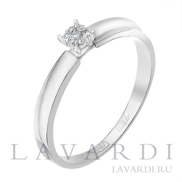 LAVARDI - Обручальное кольцо из белого золота с 7 бриллиантами f6fc75e30d4
